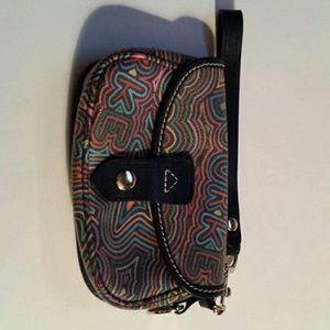 Dooney & Bourke Grafetti Neon Wristlet